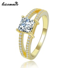 Vintage 24K Gold color ring Jewelry for women luxury wedding engagement Set bague AAA zirconia bijoux accessories MYR 140