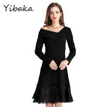 Buy Yibaka 5XL 4XL 2017 Plus Size Women dress autumn new fashion long-sleeved V-neck A-line knee-length sexy dress for $24.23 in AliExpress store
