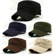 1 X 2015 Classic Solid Plain Vintage Army Hat Cadet Patrol Cap Adjustable Baseball Caps Hats 5 Colors For Men and Women