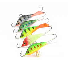 5 Pieces Vertical Jigging Lead Fish Bait 5cm 7.4g Winter Ice Fishing Lure Fishing Hook Ice Balance Fish Jigs(China)
