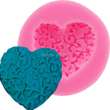 Lovely Heart-Shaped Chocolate Design Cake Decorator Love Heart Styling Silicone Mould Chocolate Fondant Mould