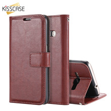 KISSCASE Fashion PU Leather Book Flip Wallet Case For Samsung Galaxy A3 A7 2016 Stand Card Slot Phone Cover For J1 J5 J7 2016