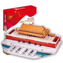 Development of intelligence,Educational toys,good quality,foam,emulational,best gifts,paper model,tiananmen square,3D PUZZLE