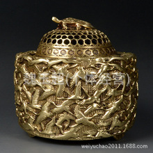 Chinese Crafts Copper Aroma Stove Buddha With Supplies Crafts Home Decoration Brass Ornament Copper Icense Brner