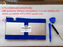 3.7V,13000mAH,[44105186] LIIB (polymer lithium ion battery / ) Li-ion battery for tablet pc; V971,V972 quad core