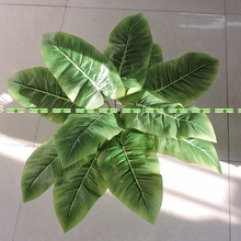 66cm Silk Fabric Big Artificial Banana Evergreen Plant Tree in Wedding Home Church Party Decor Green No Vase F5351