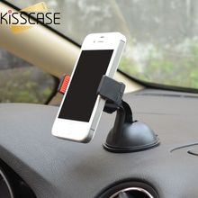 KISSCASE Car Sucker Phone Stand Holder Navigate Case For iPhone 5S 6S Plus For Samsung Galaxy S5 S6 360 Rotating Socket Mount