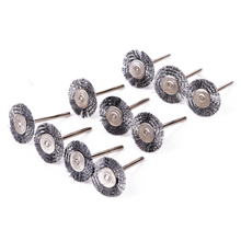 10pcs High Quality Steel Wire Wheel Polish Brushes 22mm For Rotary Grinder Accessories Tool