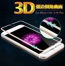 3D Curved Full Coverage Aluminum metal frame Shatterproof edge Tempered Glass Screen Film Cover For iPone 6 6S / 6 6S Plus