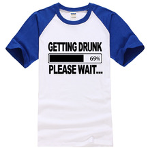 2017 summer new fashion style 100% cotton t shirts men brand clothes getting Drunk Beer Stag Party Gift Funny Mens T Shirt S-XXL