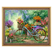 5D DIY Diamant Schilderen Bicycle Diamond Painting Square Resin Beads Painting Glass Diamond Embroidery Wall Hangings Craft(China)