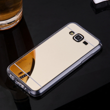 Plating Mirror TPU Mobile Phone Cases For Samsung Galaxy J5 2015 SM-J500F YC955 j500 J500H J500F Back Cover Bag Silicone