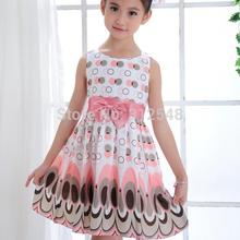 Fashion Girls Kids girl dress Princess Bow Tutu Dress One Piece Tops Pageant Tulle shaqun 2-7 years