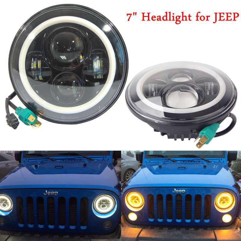 7 Round High/Low Beam led headlight for Jeep Wrangler CJ TJ JK OffRoad 7 inch LED Projector Daymaker headlamp<br><br>Aliexpress