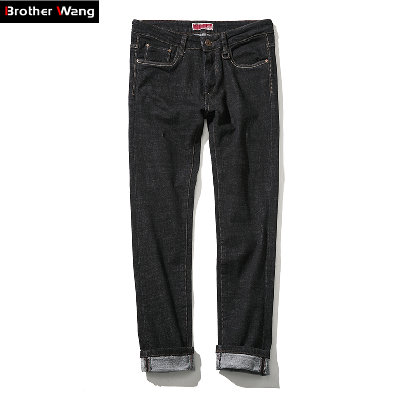 Brothers wang high elastic jeans mens 2017 spring Simple pant black trend trousers large size brand men casual jeans  44 46 48Одежда и ак�е��уары<br><br><br>Aliexpress