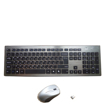 Russian English letter 2.4G Wireless keyboard mouse combo with USB Receiver for Desktop,Computer PC,Laptop and Smart TV(China)