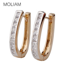 MOLIAM New 2016 Fashion Earing Jewellery Cubic Zirconia Big Hoop Earrings For Women Bijoux Earring High Quality Bijoux MLE100