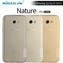 NILKIN For Samsung Galaxy A3 A5 A7 2017 Case Nillkin Nature Clear Soft Silicon TPU Protector Cover for Samsung A3 A5 A7 2017(China)