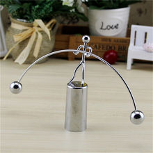Modern Swing Perpetual Balance Motion Weightlifting Iron Man Toy Art Education Gadget Home Office Desk Decoration(China)