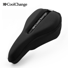 CoolChange Bike Seat Comfortable Saddle Cover Thick Cushion Bicycle Sponge High-elastic Breathable Cycling Seat Cushion Cover(China)