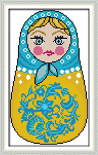 Russian dolls (4) cross stitch kit cartoon 14ct 11ct count print canvas stitches embroidery DIY handmade needlework plus