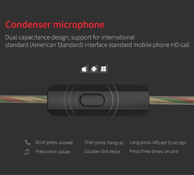 Genuine  QKZ KD8 3.5mm in ear Earphones Heavy Bass HIFI DJ Stereo Earplug noise isolating KZ Headset High End Earphone
