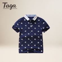 TAGA 3-14 Years Old Kids Boys Polo Shirts Summer Boys shirt Short Sleeve cartoon Kids Girls Polo Shirts Casual Kids Summer tops