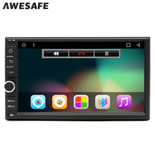 "AWESAFE 2 Din 7"" Car DVD Radio Player 1024*600 Android 6.0 Universal Car Tap PC Tablet For Nissan GPS BT Stereo Audio Player(China)"