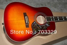 sj200 cherry sunburst Hummingbird Acoustic Guitar CS can be with fishman EQ free shipping spruce top solid mahogany back sides