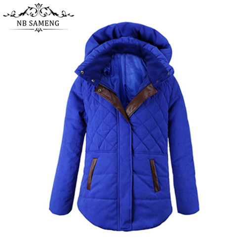 2017 New Fashion Blue Ladies Winter Parkas Women Warm HoodedCoat Cotton-Padded Clothes Thicken Winter Female Parkas Plus SizeОдежда и ак�е��уары<br><br><br>Aliexpress