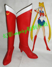 Janpanese Anime Sailor Moon Red Boots  Comic Con Cosplay Red Shoes