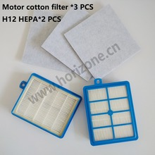 Buy 2-PCS H12 H13 Hepa Filter 3-PCS Motor cotton filter Philips Electrolux Vacuum Cleaner for $18.00 in AliExpress store
