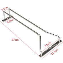 New High Quality Glass Cup Rack Stemware Holder Under Cabinet Chrome Household Home Bar Pub 27cm