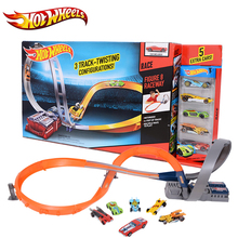 Hot Wheels Sport Car Toy Plastic Track Vehicles Kid Toys Hot Sale Hotwheels Cars Track X2586 Multifunctional Classic Boy Toy Car(China)