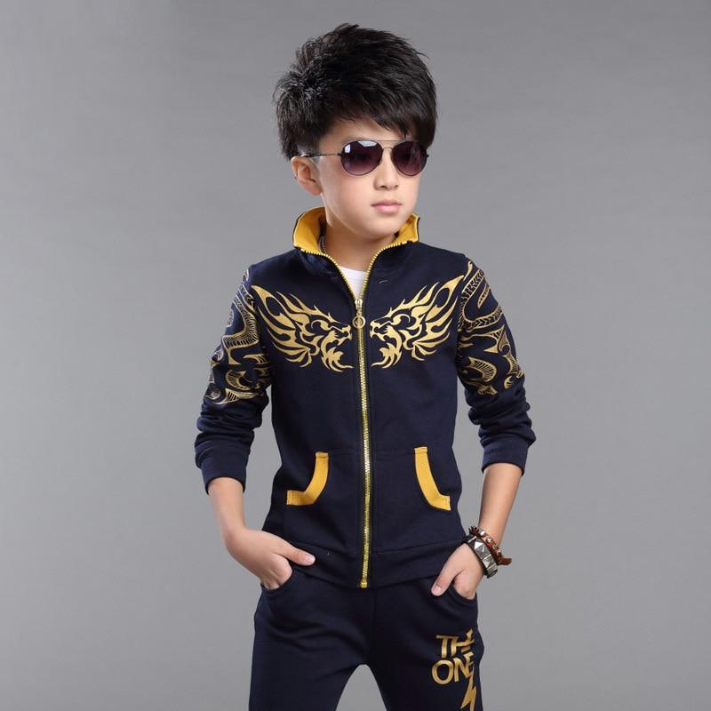 4-15Years Autumn Children Sets Popular Dragon Boys Sweatshirt+Pants Kids Sport Hoodies Jacket Baby Boys Outwear Hooded Clothes<br><br>Aliexpress