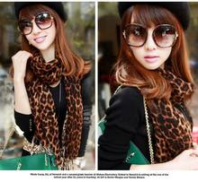 Cashmere Feel Long Soft Wrap Lady Shawl Cashmere-like Linen Winter Scarf Sun Air Conditioner Leopard Print scarves L016