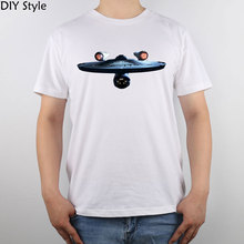 Star Trek Starship Enterprise T-shirt Top Pure Cotton Men T shirt New Design High Quality(China)