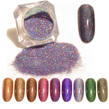 BORN PRETTY Starry Holographic Laser Nail Glitter Powder Holo Dust Manicure Nail Art Glitter Powder Decoration