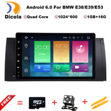 "HD 9"" TFT Screen Quad Core CPU Android 6.0.1 PC 1 Din Car DVD GPS Radio Stereo For BMW E53 E39 X5 Support TV 4G WiFi OBD DVR(China)"
