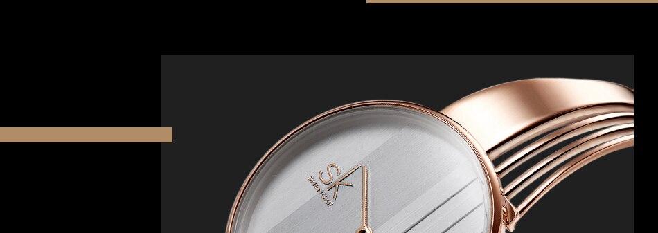 ساعة اليد سوار كوارتز  مطلية بالذهب 16