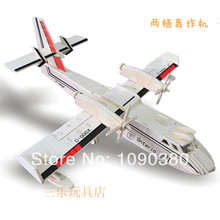 Educational Wooden Puzzle 3D Plane Model Classic Toys Hot Sale DIY Aircraft Puzzle Toys Magic Puzzle Toy Best Children Gifts