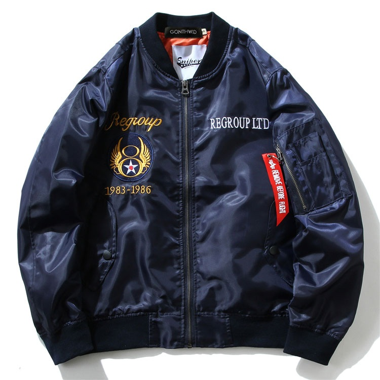 Embroidery Dragon Bomber Jackets 4