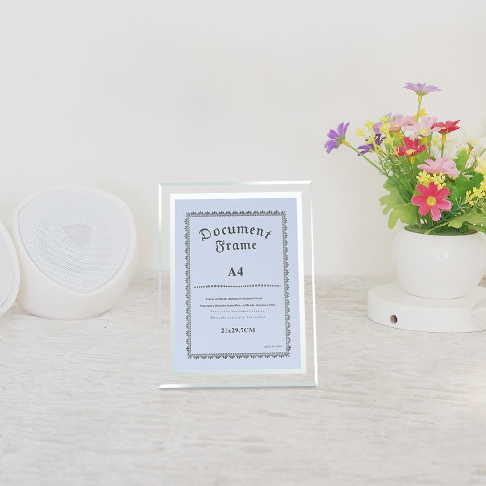 Best Giftgarden A4 Glass Document Frames Tabletop Certificate Frame ...