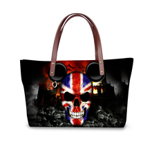 FORUDESIGNS Cool Fashion Skull Printed Shoulder Bag Famous Designer Handbag Women Beach Handbags,Casual Soft Zipper Tote Bolsas
