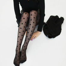Buy Fashion Sexy Sheer Lace Big Dots Pantyhose Stockings Big Dot Silk Tights Punk Women's Pantyhose Fishnet Female Stockings