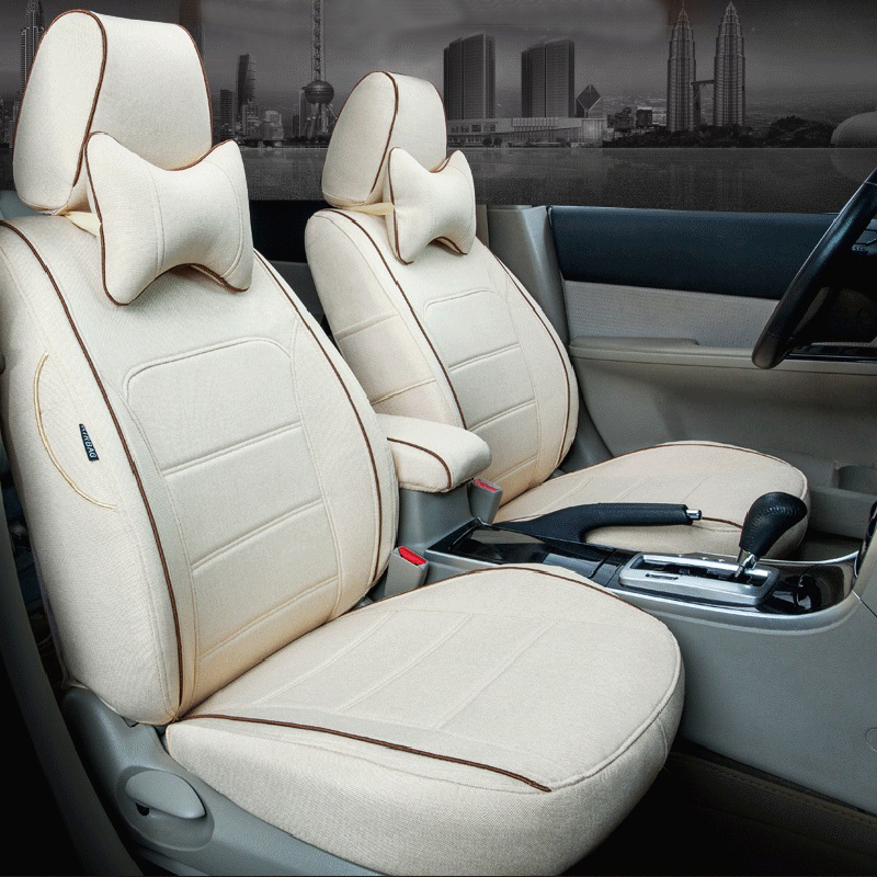 Car Styling Headrest for Benz B Class Seat Covers Sets Custom Fit Cover Seats Supports Linen Fabric Cushions Interior Protector(China (Mainland))