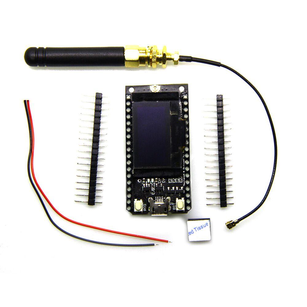 2 pcs TTGO 433/470/868/915MHz SX1278 SX1276 ESP32 LoRa 0.96 Inch Blue OLED Display Bluetooth WIFI Module  IOT Development Board