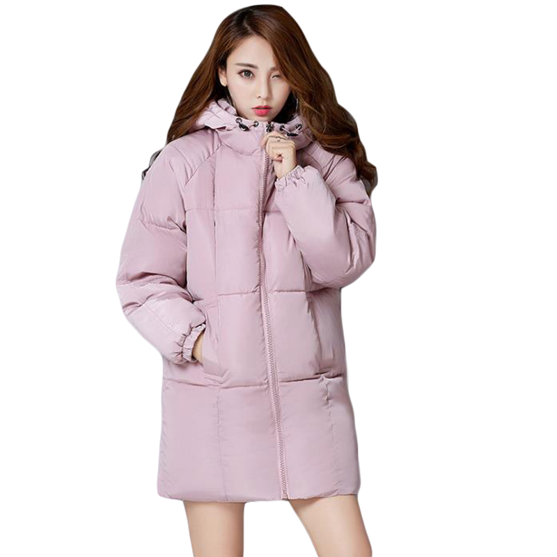 2017 Women Winter Jacket Fashion Women Coat Parka High-Quality Female Hooded Bread Jacket Oversized Warm Wadded Outwear CM1472Îäåæäà è àêñåññóàðû<br><br>