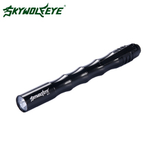 Skywolfeye LED Flashlight Mini Medical Pen Pocket Small Black Portable LED Light Torch Led Portable Penlight For Camping Riding