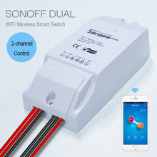 New Sonoff Smart Home Dual Wireless Remote Control Wifi Switch,Intelligent Timer Switch Diy Switch 220V Control Via Android IOS